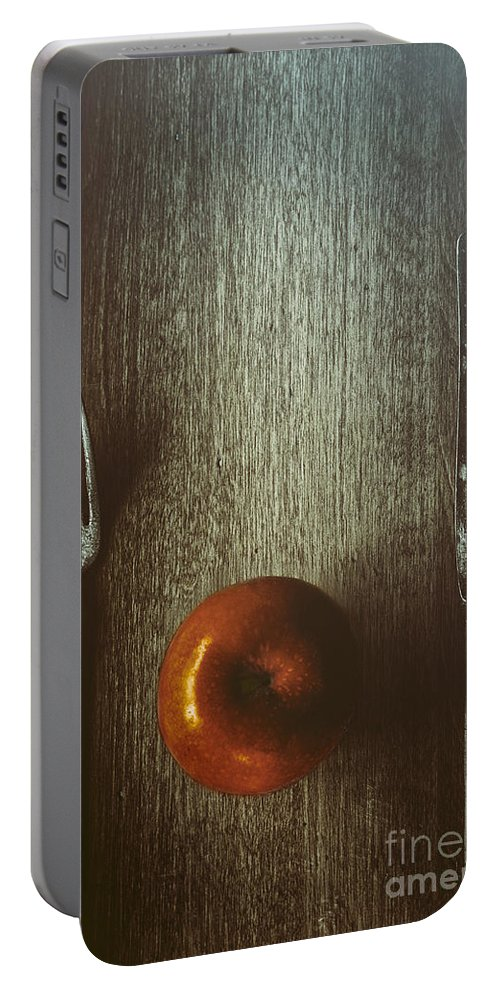 Knife Portable Battery Charger featuring the photograph An Apple A Day by Margie Hurwich