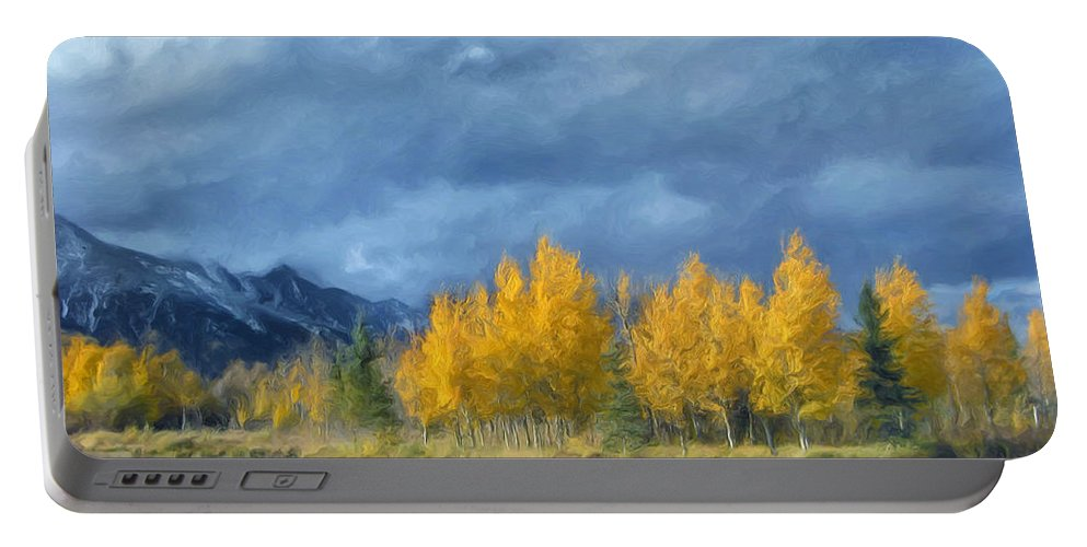 Early Snowfall Portable Battery Charger featuring the painting An Early Snowfall by Dominic Piperata