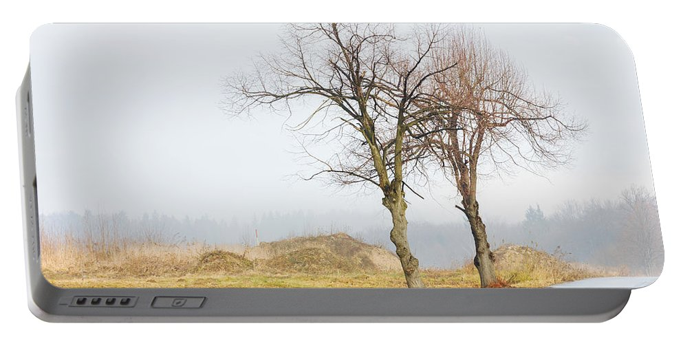 Solitude Portable Battery Charger featuring the photograph An Empty Path by Pati Photography