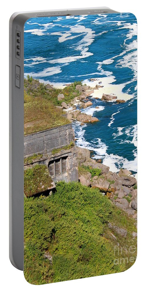 Hydroelectric Generating Station Portable Battery Charger featuring the photograph An Old Hydroelectric Generating Station by Jennifer E Doll