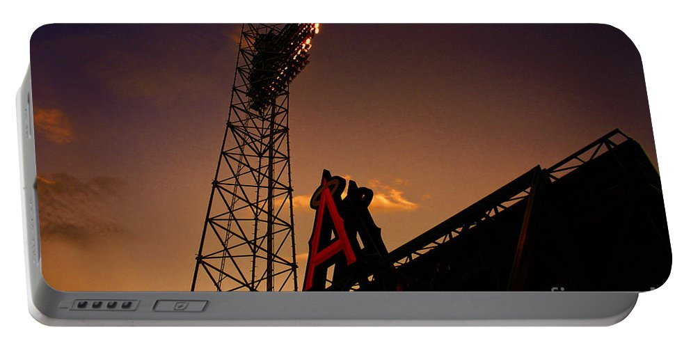 Anaheim Angels Stadium Portable Battery Charger featuring the photograph Anaheim Angels Sunset by Tommy Anderson