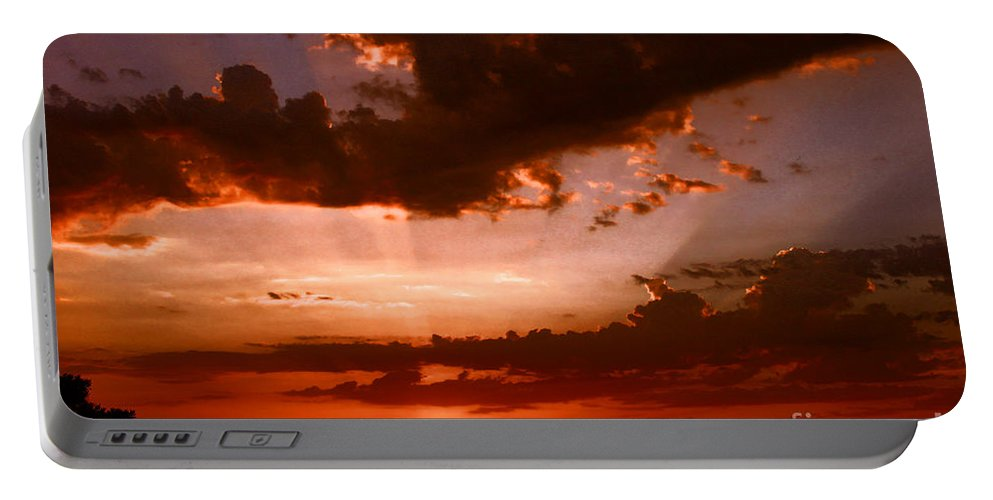 Sunset Portable Battery Charger featuring the photograph Anaheim Sunset by Tommy Anderson