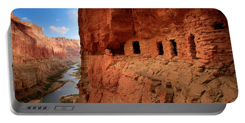 Grand Canyon Portable Battery Charger featuring the photograph Anasazi Granaries by Inge Johnsson