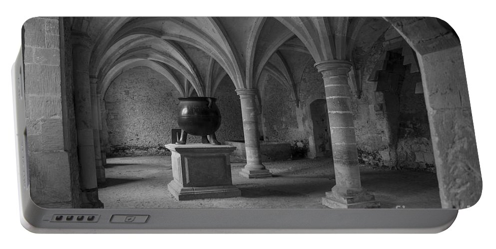 Clare Bambers Portable Battery Charger featuring the photograph Ancient Cloisters. by Clare Bambers