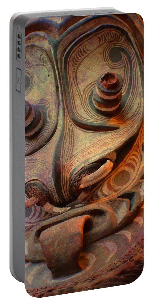 Indian Portable Battery Charger featuring the photograph Ancient Indian Artifact by Deena Stoddard