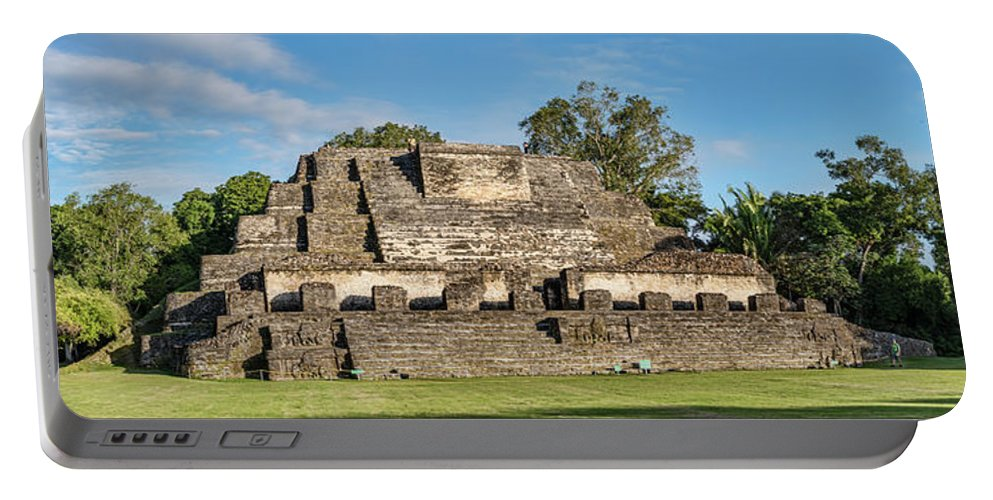 Photography Portable Battery Charger featuring the photograph Ancient Mayan Ruins, Altun Ha, Belize by Panoramic Images