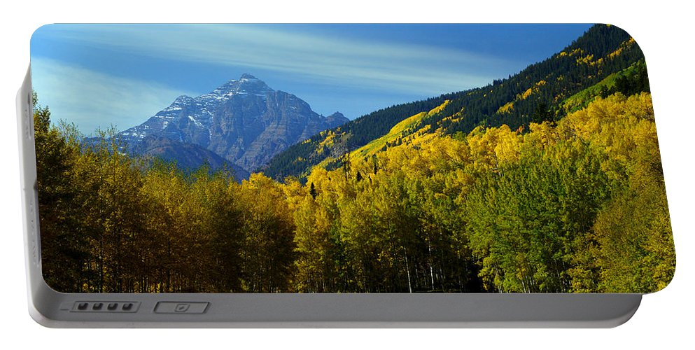 14ers Portable Battery Charger featuring the photograph Ancient Pyramid by Jeremy Rhoades