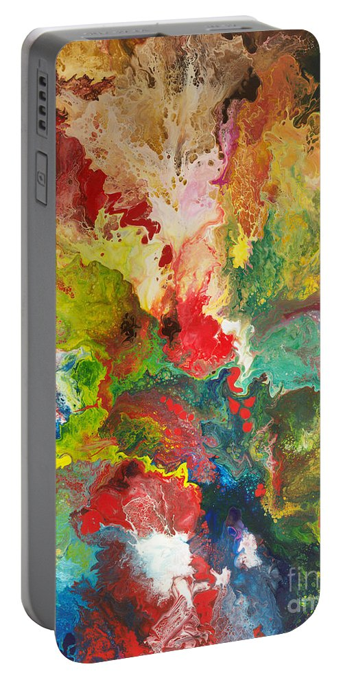 Metaphysical Paintings Portable Battery Charger featuring the painting Ancient Wisdom by Sally Trace
