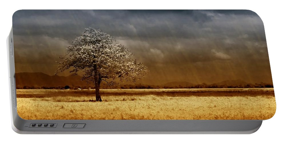 Landscapes Portable Battery Charger featuring the photograph And The Rains Came by Holly Kempe