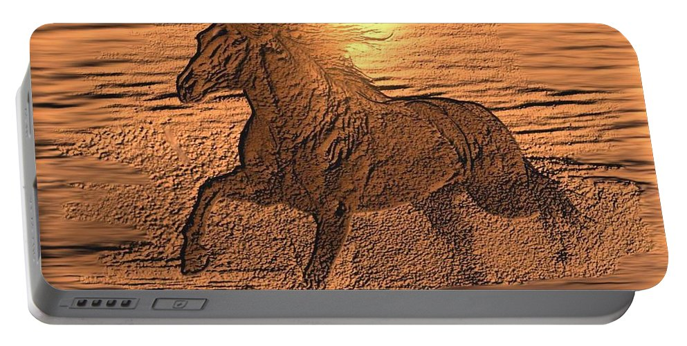 Andalusian Sunset Portable Battery Charger featuring the digital art Andalusian Sunset by Maria Urso