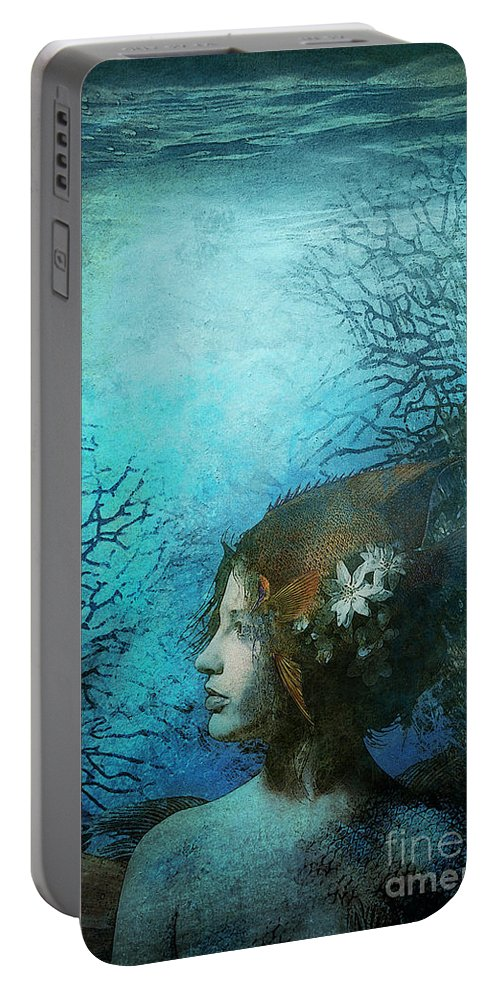 Aimee Stewart Portable Battery Charger featuring the digital art Angel by MGL Meiklejohn Graphics Licensing