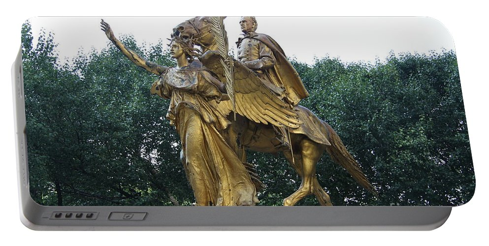 Angel Portable Battery Charger featuring the photograph Angel And Tecumseh Sherman by Christiane Schulze Art And Photography