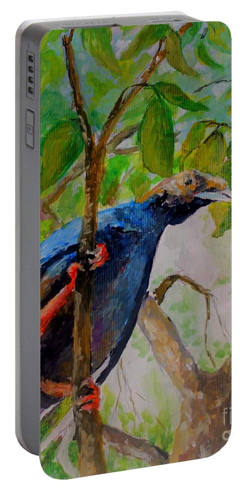 Bird Portable Battery Charger featuring the painting Angel Bird Of North Moluccas by Jason Sentuf