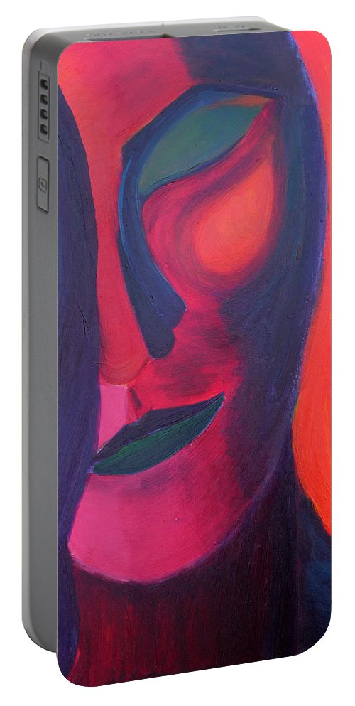 Surreal Portable Battery Charger featuring the painting Angel by Daina White