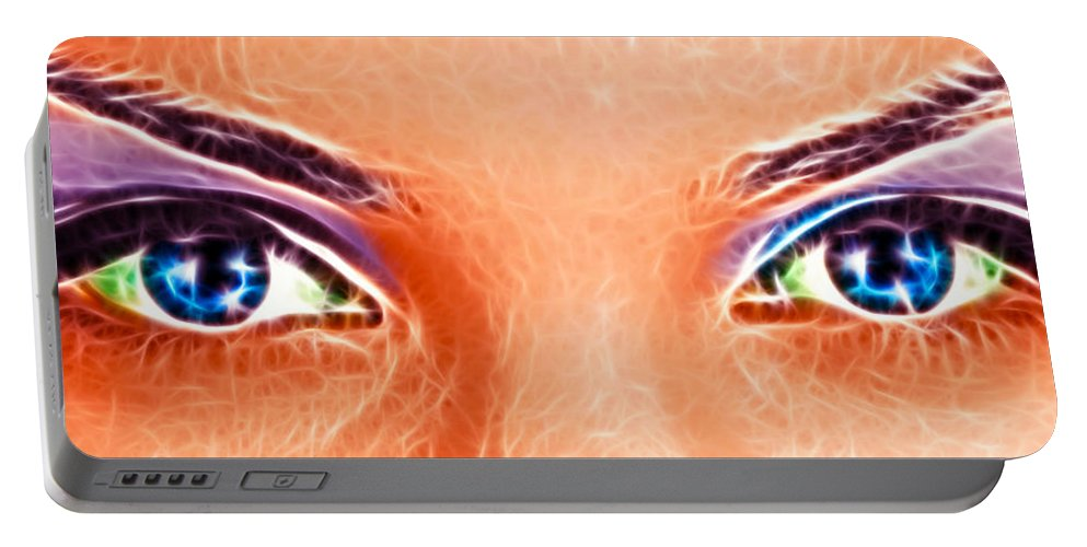 Attractive Portable Battery Charger featuring the photograph Angel Eyes by Sotiris Filippou