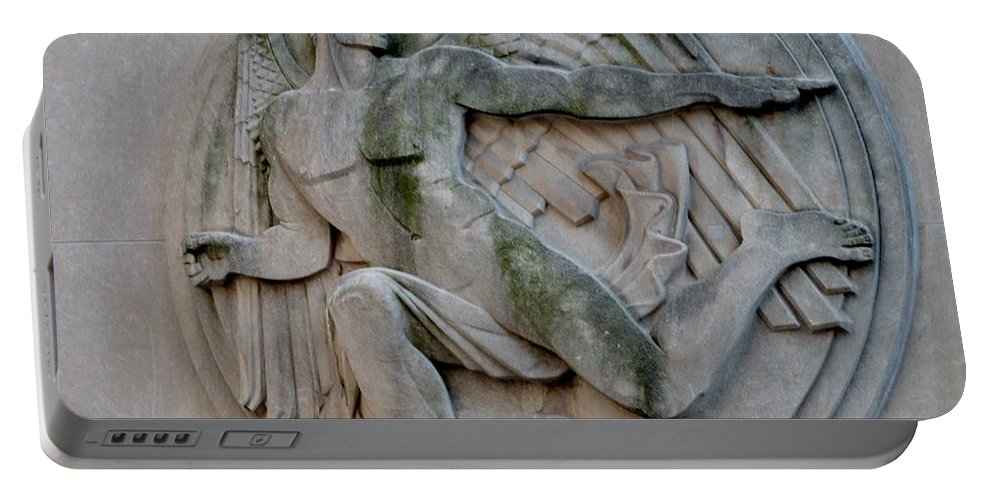 Angel Portable Battery Charger featuring the photograph Angel In A Wall by Sonali Gangane