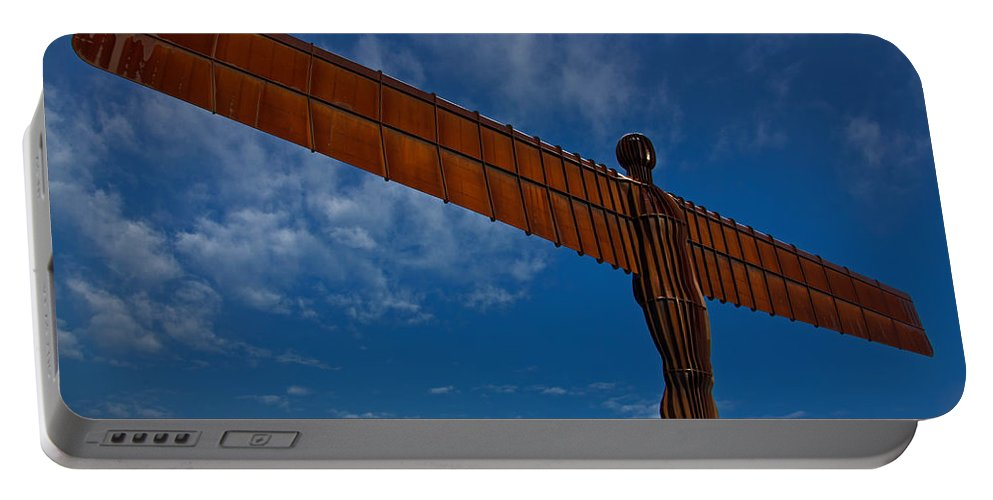 Angel Of The North Portable Battery Charger featuring the photograph Angel In The Snow V by David Pringle