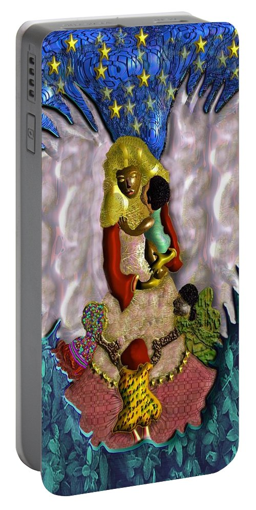 Religion Portable Battery Charger featuring the digital art Angel by John Clarke