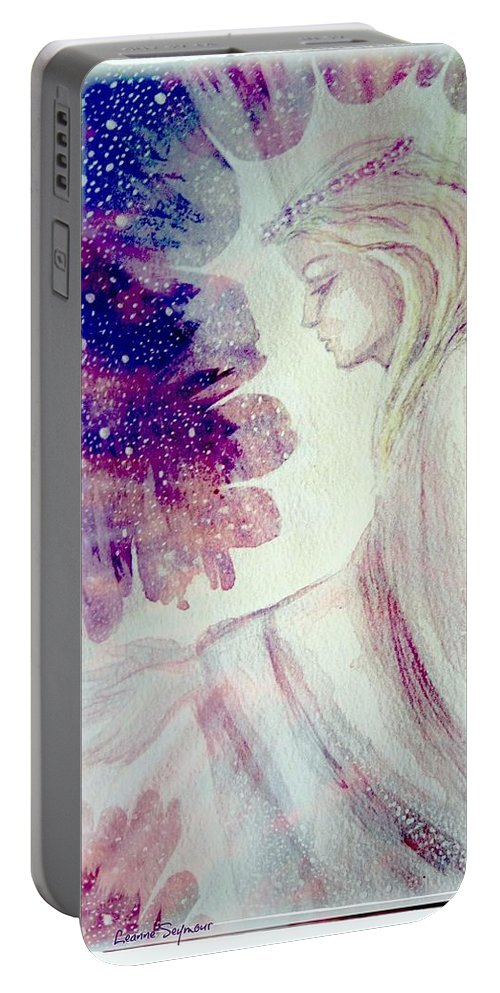 Angel Portable Battery Charger featuring the painting Angel Of Mercy 2 by Leanne Seymour
