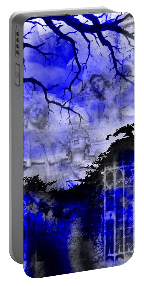 Angels Portable Battery Charger featuring the digital art Angels In Gothica by Michael Damiani