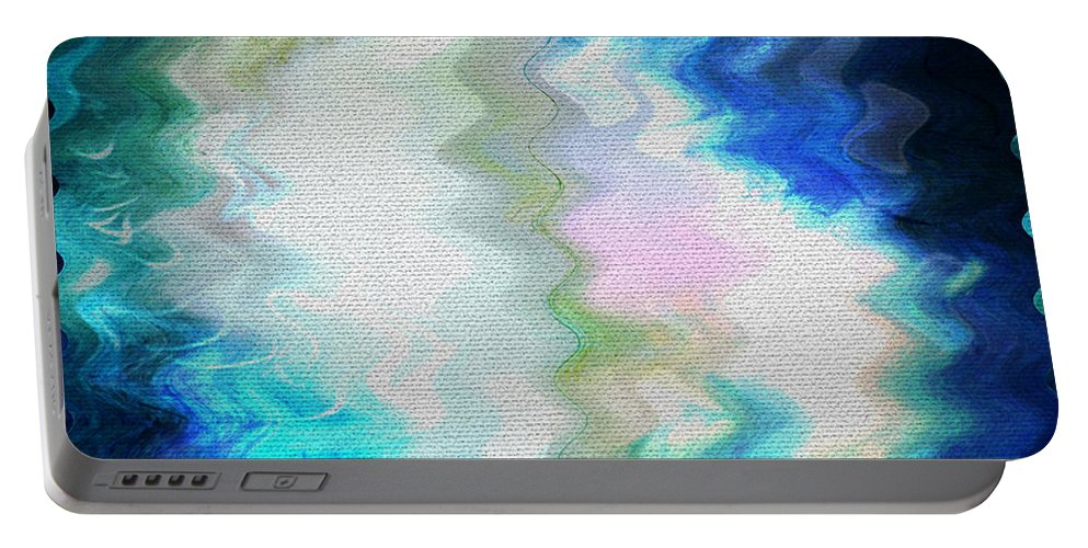 Abstract Portable Battery Charger featuring the digital art Angels Of Peace by Absinthe Art By Michelle LeAnn Scott
