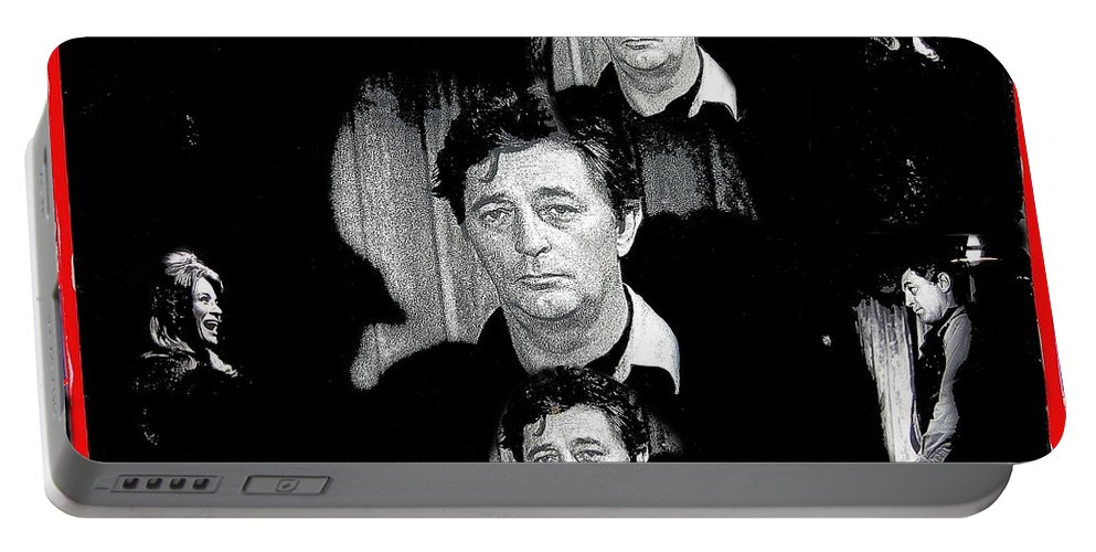 Angie Dickinson Robert Mitchum Collage Young Billy Young Set Old Tucson Arizona 1968 Color Added Portable Battery Charger featuring the photograph Angie Dickinson Robert Mitchum Collage Young Billy Young Set Old Tucson Arizona 1968-2013 by David Lee Guss