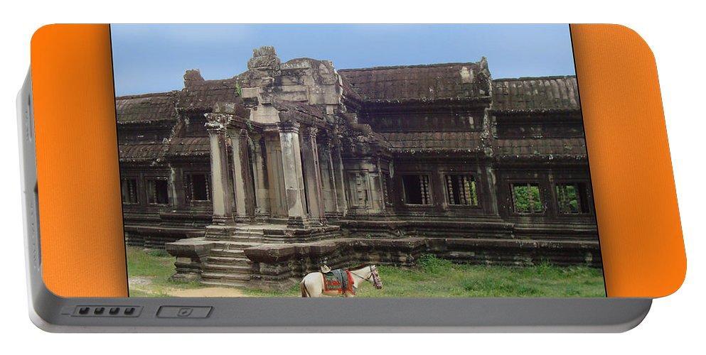 Angkor Wat Portable Battery Charger featuring the photograph Angkor Wat Cambodia 1 by Jeff Brunton