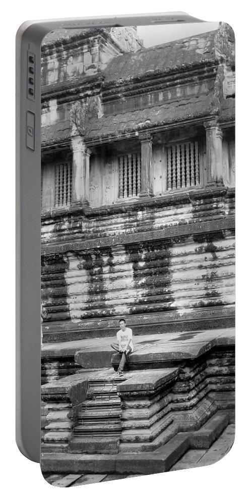 Angkor Wat Portable Battery Charger featuring the photograph Angkor Wat Cambodia 3 by Jeff Brunton