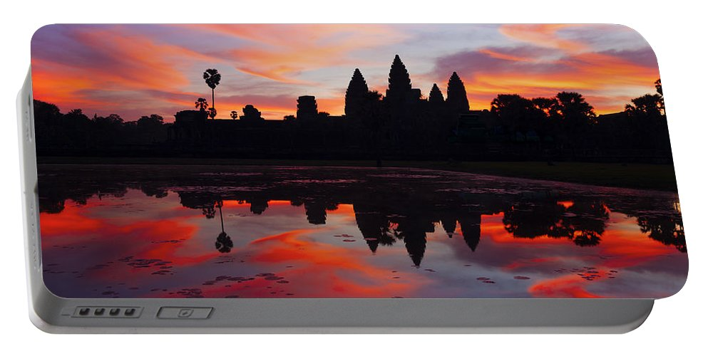 Angkor Wat Portable Battery Charger featuring the photograph Angkor Wat Sunrise by Alexey Stiop