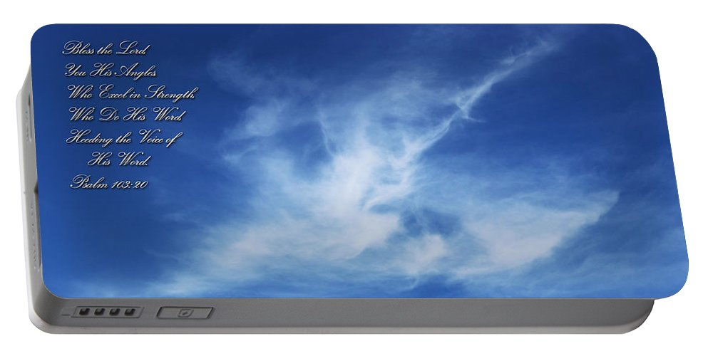 Christian Portable Battery Charger featuring the photograph Angels In The Sky by Vicki Hawkins
