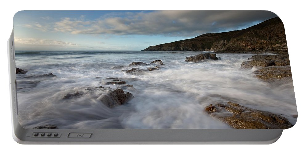 Waves Portable Battery Charger featuring the photograph Anglesey Tides by Beverly Cash