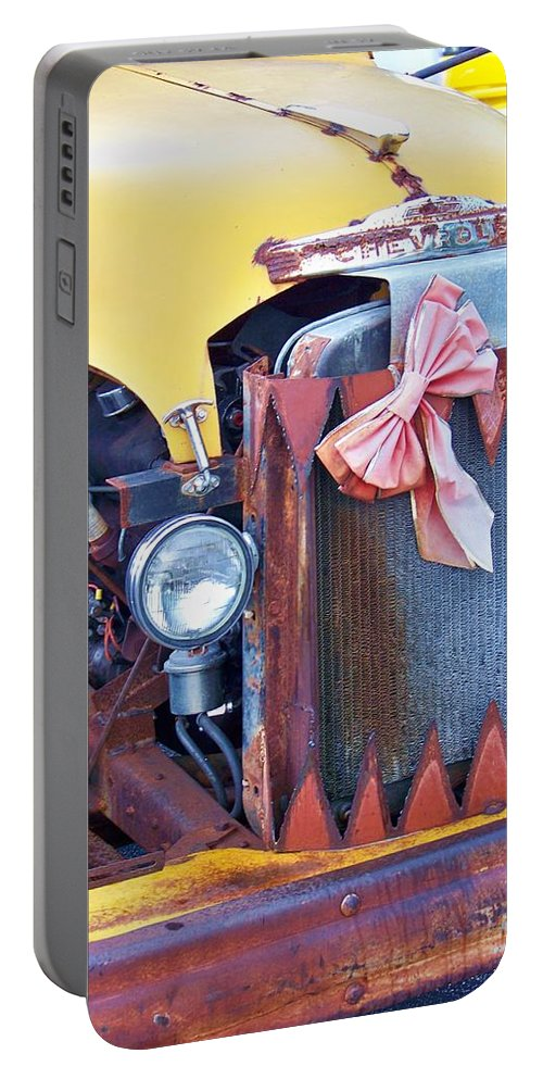 Truck Portable Battery Charger featuring the photograph Angry Face by Chuck Hicks