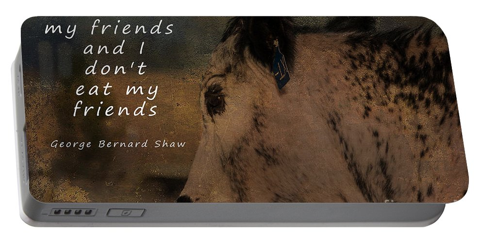Diet Portable Battery Charger featuring the photograph Animals Are My Friends by Janice Pariza