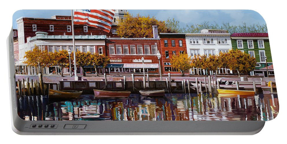 Annapolis Portable Battery Charger featuring the painting Annapolis by Guido Borelli