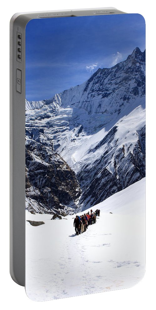 Nepal Portable Battery Charger featuring the photograph Annapurna Sanctuary Trail by Aidan Moran
