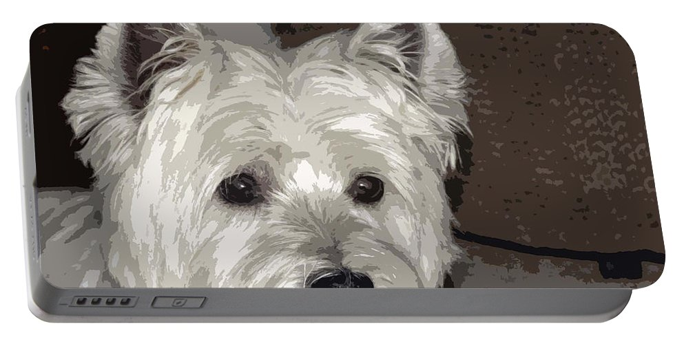 Westie Portable Battery Charger featuring the photograph Annie by Linda Dunn