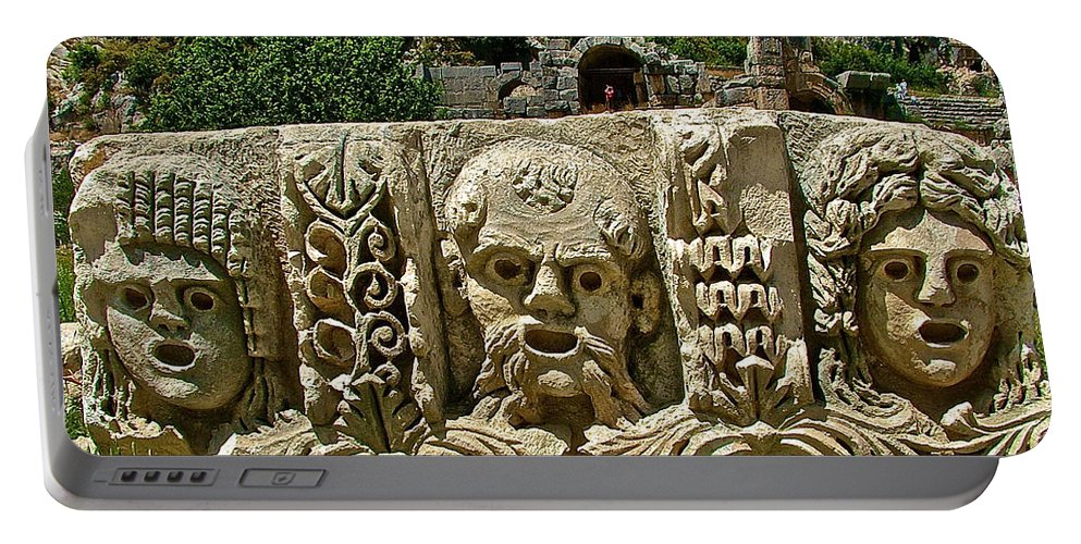 Another Relief In Myra Portable Battery Charger featuring the photograph Another Relief In Myra-turkey by Ruth Hager