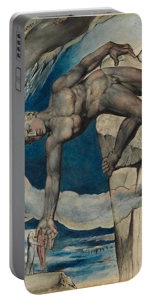 William Blake Portable Battery Charger featuring the painting Antaeus Setting Down Dante And Virgil In The Last Circle Of Hell by William Blake