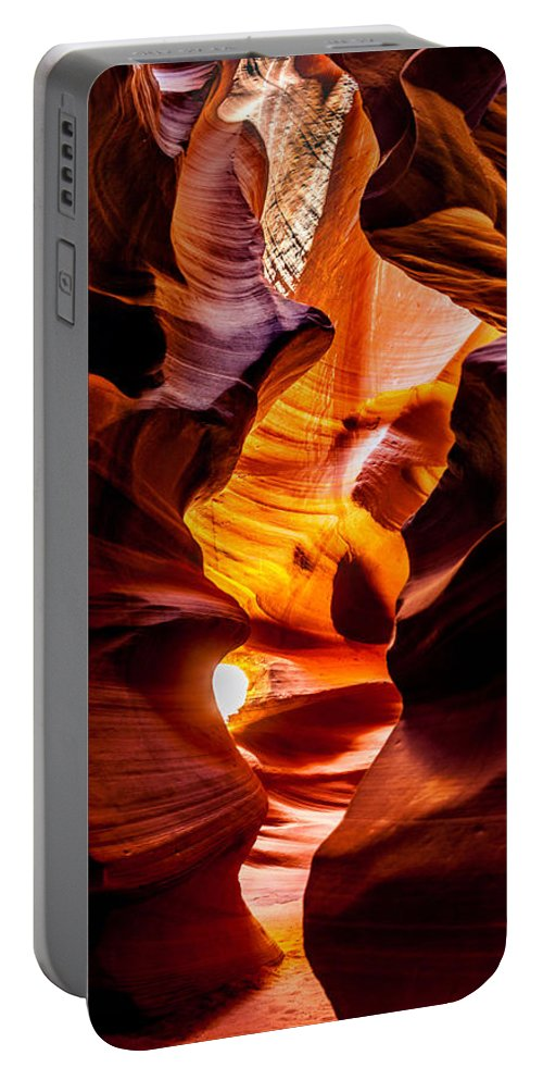 Antelope Canyon Portable Battery Charger featuring the photograph Exit Strategy by Az Jackson