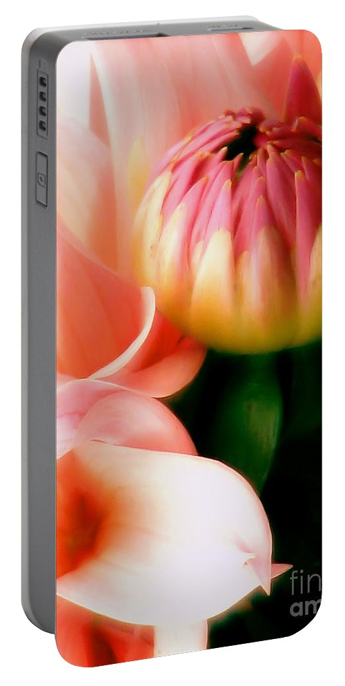 Dahlia Portable Battery Charger featuring the photograph Anticipation by Rory Sagner