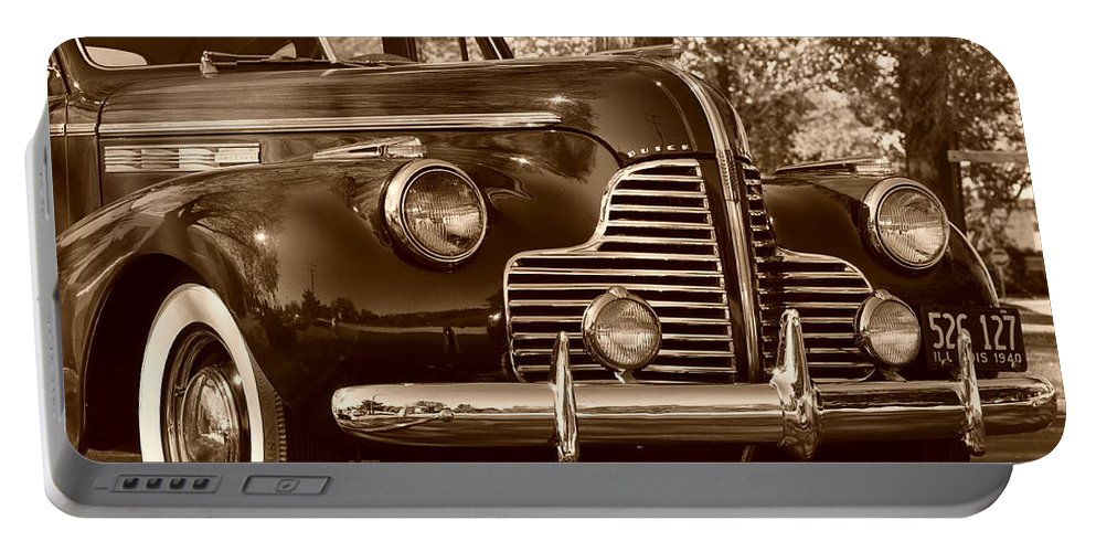 Antique Car Portable Battery Charger featuring the photograph Antique Car by Thomas Shockey