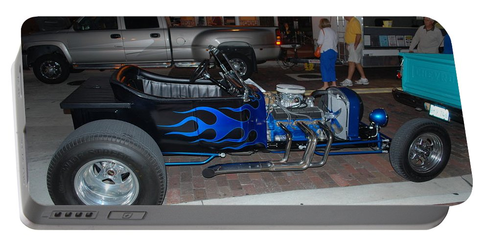 Downtown Ft.myers Portable Battery Charger featuring the photograph Antique Custom Car by Robert Floyd