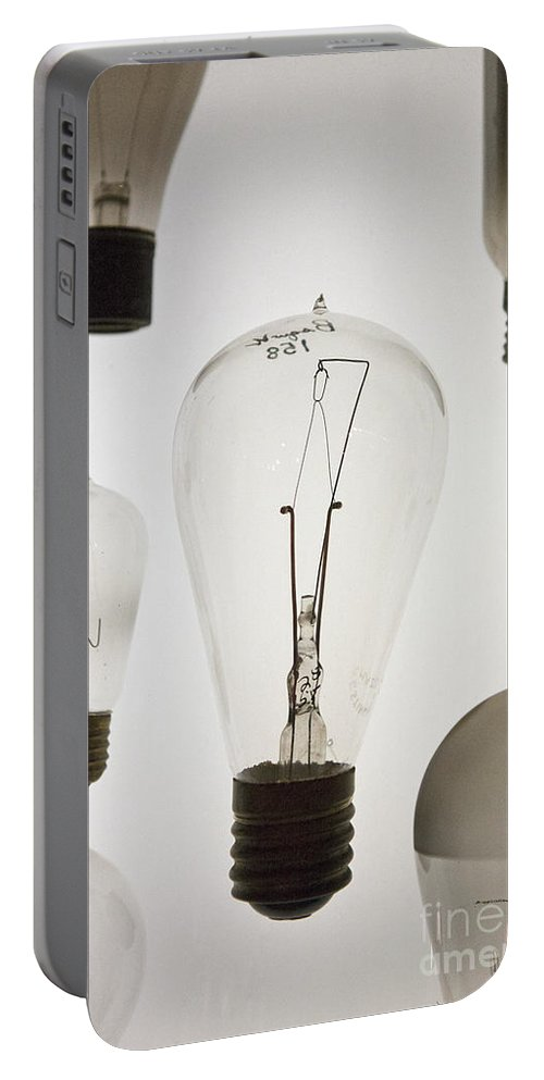 Light Bulb Portable Battery Charger featuring the photograph Antique Light Bulbs by Jason O Watson