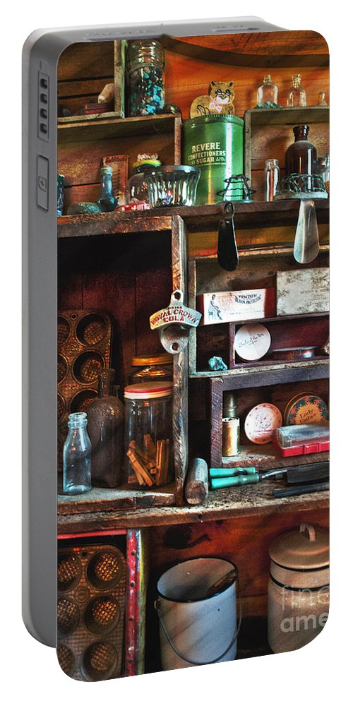 Kitchen Portable Battery Charger featuring the photograph Antique Things by Alana Ranney