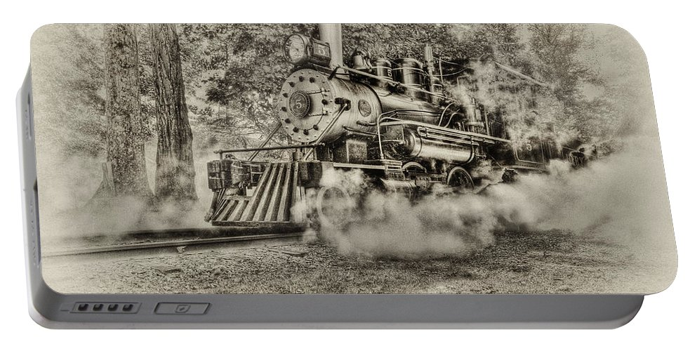 Train Portable Battery Charger featuring the photograph Antique Train by Bill Wakeley