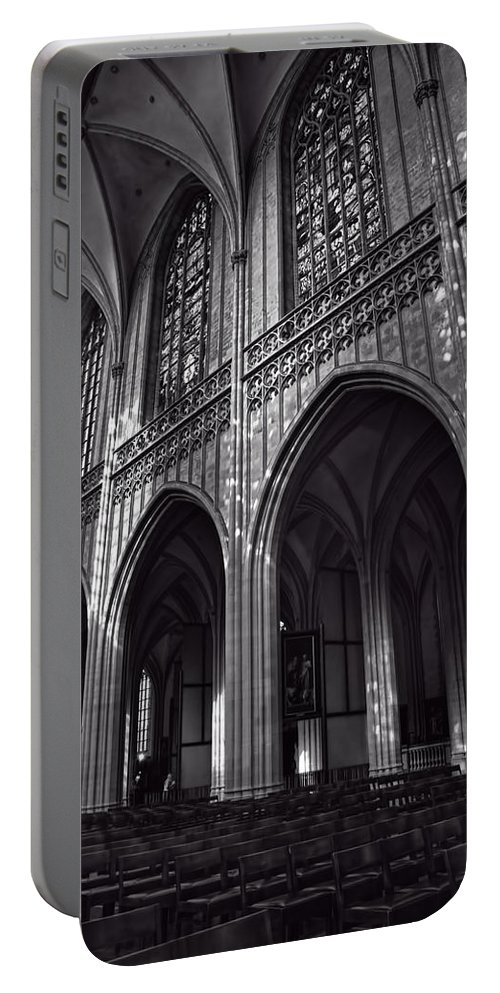 Cathedral Portable Battery Charger featuring the photograph Antwerp Cathedral by Joan Carroll