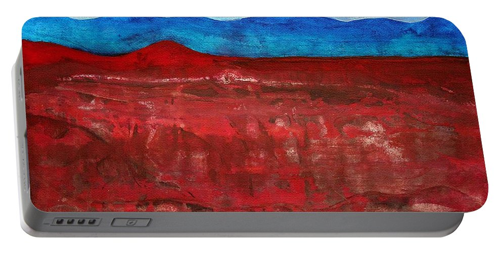Anza-borrego Portable Battery Charger featuring the painting Anza-borrego Vista Original Painting by Sol Luckman