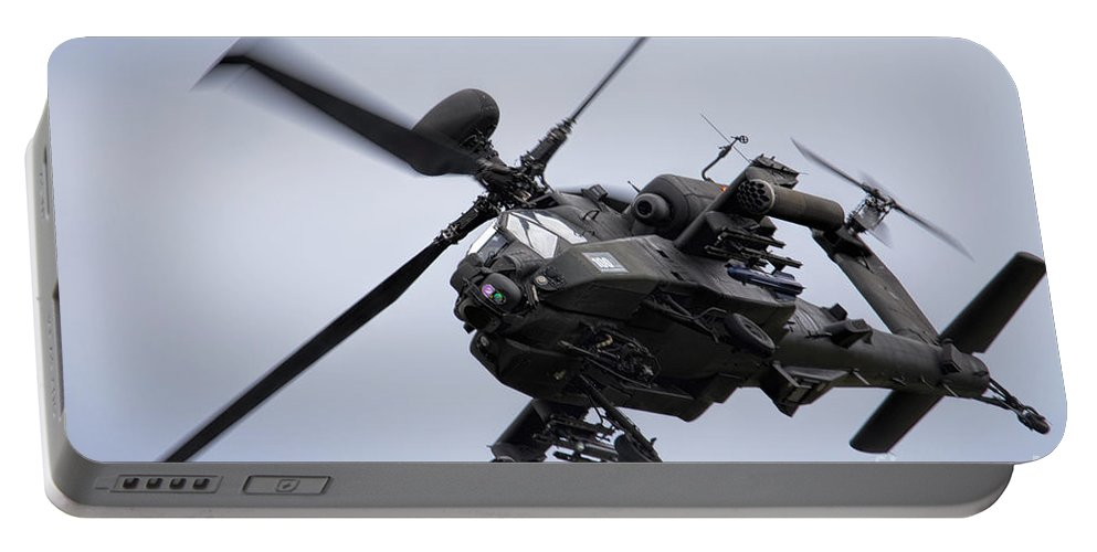 Apache Portable Battery Charger featuring the photograph Apache Longbow by J Biggadike