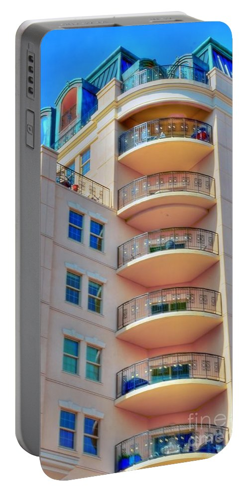 #apartment T#building Portable Battery Charger featuring the photograph Apartment Building by Kathleen Struckle