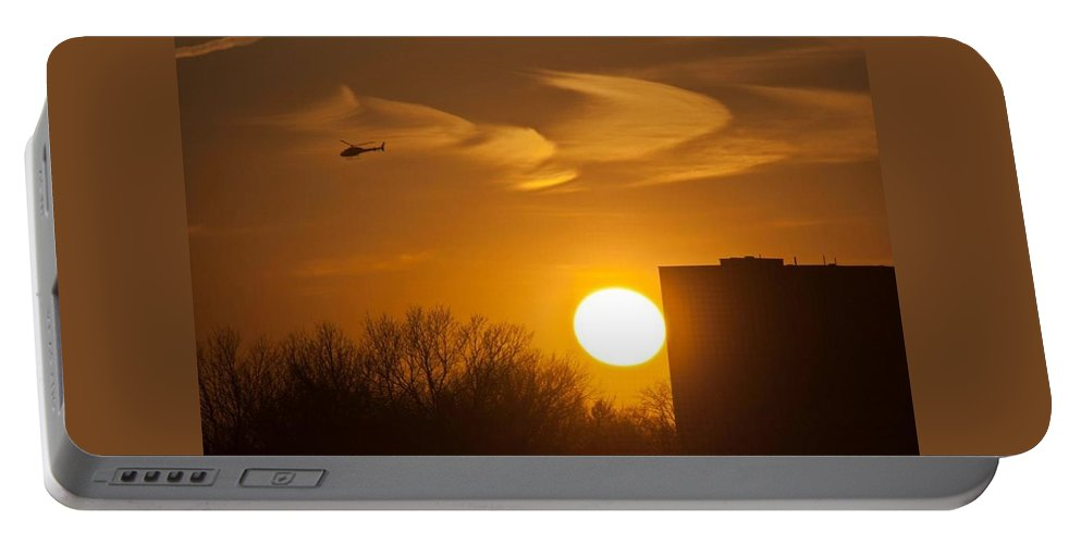 Horizon Portable Battery Charger featuring the photograph Apocalypse Now by Kathleen Odenthal